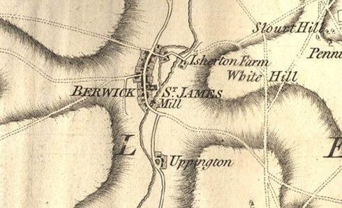 Berwick St James map near Stonehenge