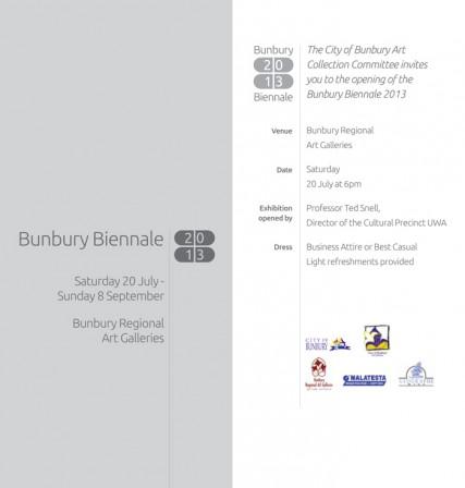 Bunbury Biennale Invite 2013