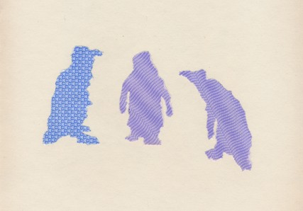 3 penguins (blue envelopes)