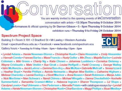 In conversation exhibition