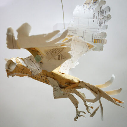 an owl made of paper
