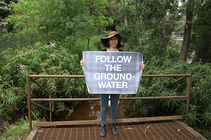 follow the groundwater