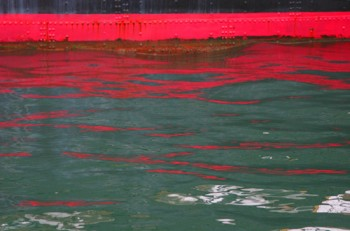 red water line