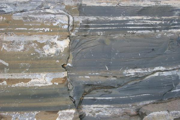 quarry wall closeup