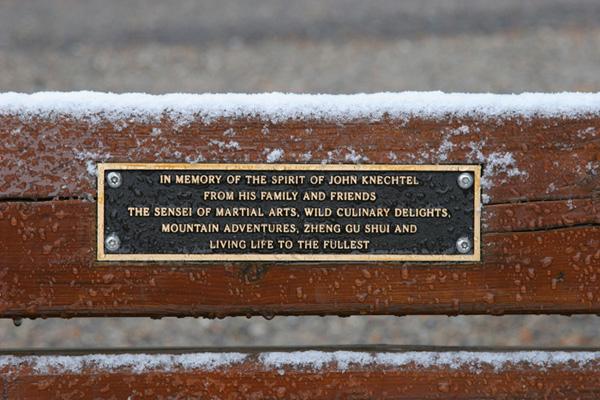 Surprise (Crash) Corner dedicated park bench