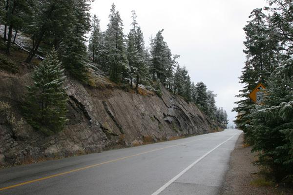 the road up to Crash Corner