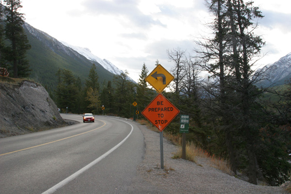 Surprise (Crash) Corner sign